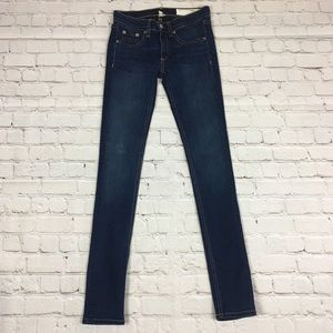 Rag & Bone Skinny Dark Blue Jeans Size 24